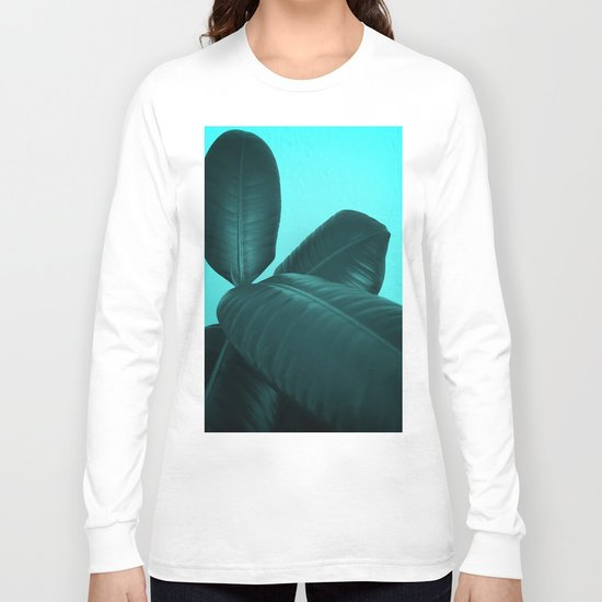 Ficus Elastica #3 #art #society6 Long Sleeve T-shirt