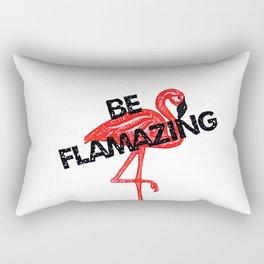 Be flamazing - Flamingo art Rectangular Pillow
