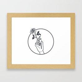 Smokin' Rose Framed Art Print