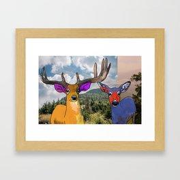 Colorful Deer Framed Art Print