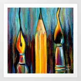 Pen, Pencil, Brush Art Print