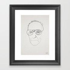 One line William Burroughs Framed Art Print