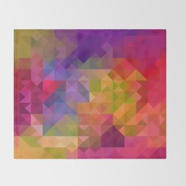 Bright Colorful Geometric Abstract Throw Blanket