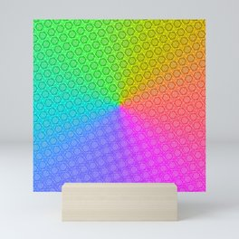 d20 Prismatic Spray Critical Hit Pattern Mini Art Print