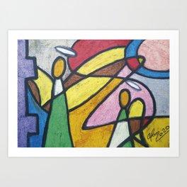 Fragmented Angels #095 Art Print