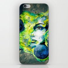 Esther Green (Set) by carographic watercolor portrait iPhone & iPod Skin