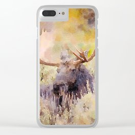 Moose Clear iPhone Case