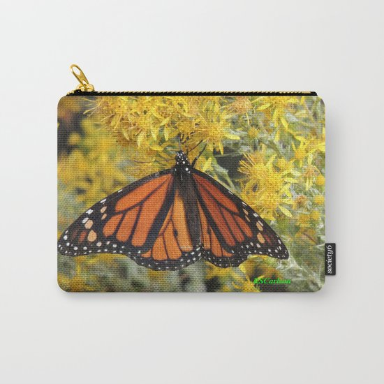 Monarch on Rubber Rabbitbrush Carry-All Pouch