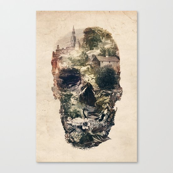 Skull Town Canvas Print