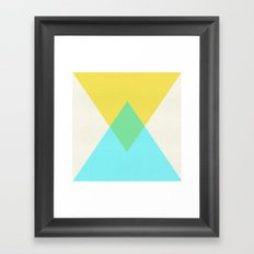 SUMMER SHAPES Framed Art Print