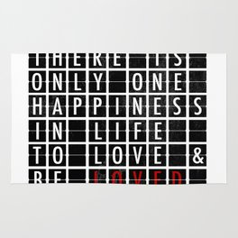 Destination Sign Love Rug
