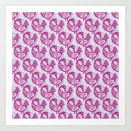 Pink Sankofa Art Print