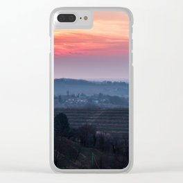 Spring sunset in the vineyards of Collio Friulano Clear iPhone Case