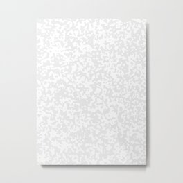 Small Spots - White and Pale Gray Metal Print