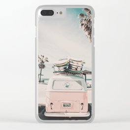 Summer Forever Clear iPhone Case