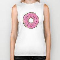 doughnut Biker Tanks featuring Doughnut by Sara Eshak