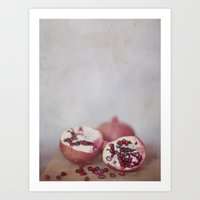 pomegranate Art Prints featuring Pomegranate by Kim Bajorek