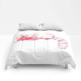 Red Panda Yawning Comforters