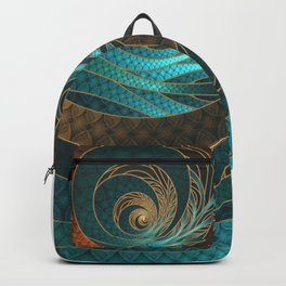 Beautiful Corded Leather Turquoise Fractal Bangles Backpack