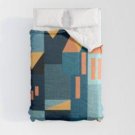 Yellow Klee houses Comforters