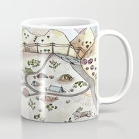 camp Mugs featuring Desert Camp by Brooke Weeber
