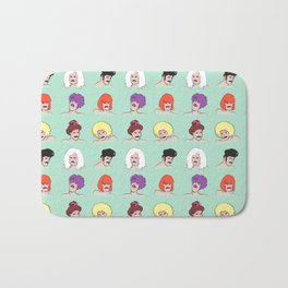 Moustaches and Wigs (pattern) Bath Mat