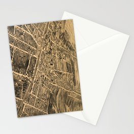 Vintage Pictorial Map of Durham NC (1891) Stationery Cards