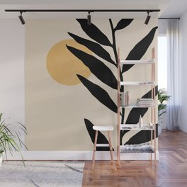ABSTRACT ART TROPICAL - LEAF 02 Wall Mural