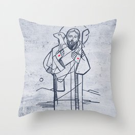 Jesus Christ Good Sheperd Throw Pillow