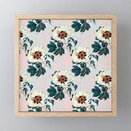 Flowery blooming with geometric Framed Mini Art Print