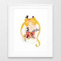 sailor moon Framed Art Prints featuring Sailor Moon by cezra