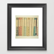 Old Books Framed Art Print