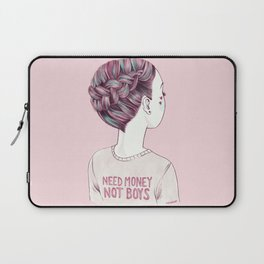 need money not boys Laptop Sleeve