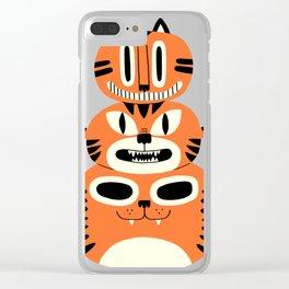 Totem Cat Clear iPhone Case