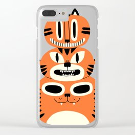 Totem Cat Clear iPhone Case