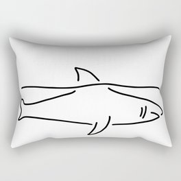 shark shark fish fin sea Rectangular Pillow