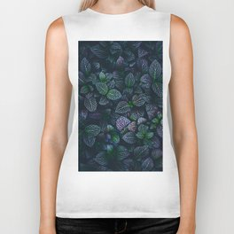 Purple and Green Plants (Color) Biker Tank