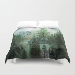 Mountain Morning 2 Duvet Cover