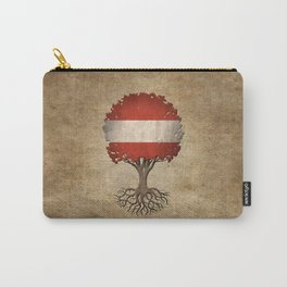 Vintage Tree of Life with Flag of Austria Carry-All Pouch