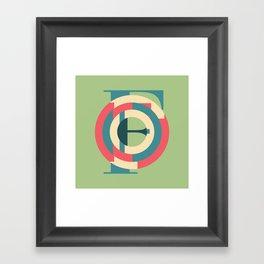 Typography series #F Framed Art Print
