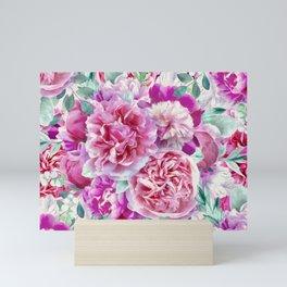 Beautiful soft pink peonies II Mini Art Print