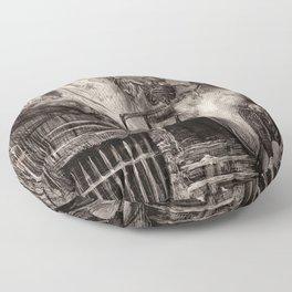 Gustave Doré - The Death of Gérard de Nerval Floor Pillow