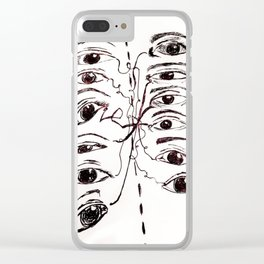 Cross Fire (Courageous Conversations) Clear iPhone Case