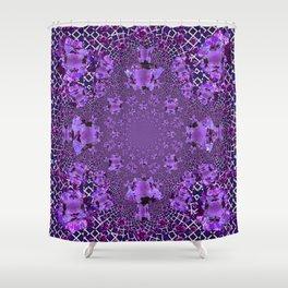Encrusted Amethyst Purple Gems February Birthstones art Shower Curtain