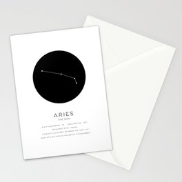 Aries Constellation Stationery Cards