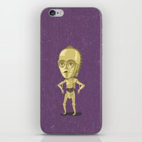 c3po iPhone & iPod Skins featuring C3PO by Rod Perich
