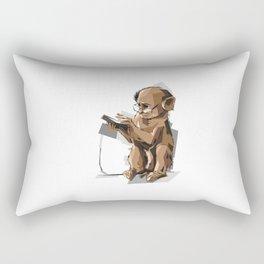 Baby Monkey Text'n Rectangular Pillow
