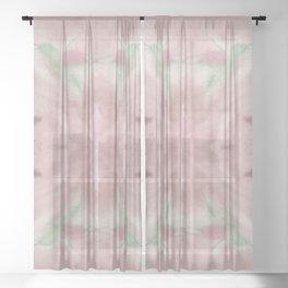 Hummingbird Selah Mirror - Rose & Sage Palette Sheer Curtain