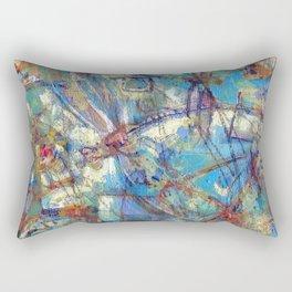 Dragonflies in blue Rectangular Pillow