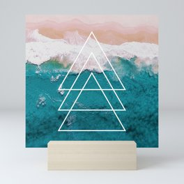 Beach Arrow / Geometric Mini Art Print